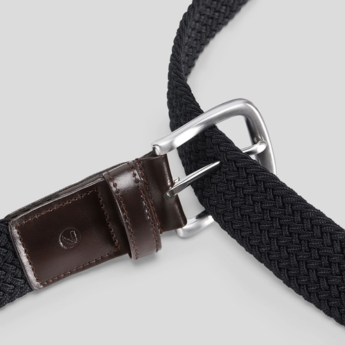 Xiaomi QIMIAN Elastic Knitting Pin Buckle Belt Black