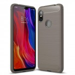 Bakeey Carbon Fiber Protective Case for Redmi Note 6 Pro Grey